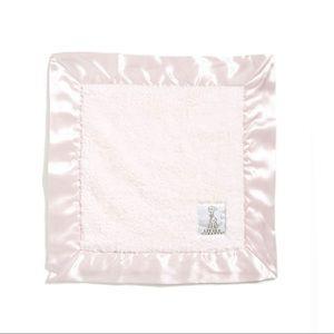 Little giraffe mini small pink baby blanket